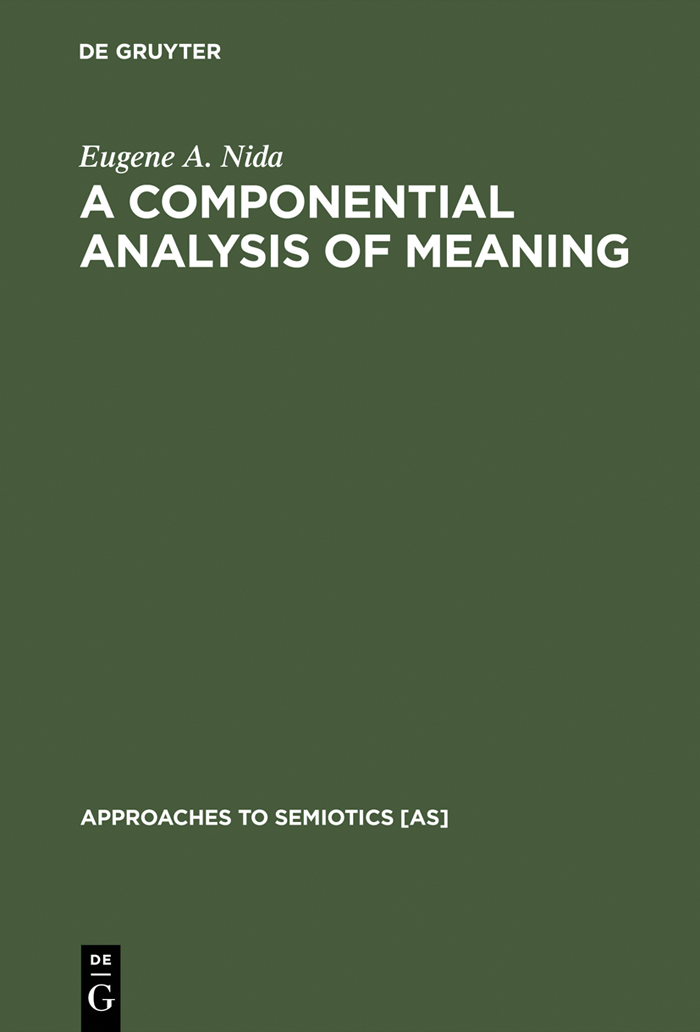 componential analysis and the study of