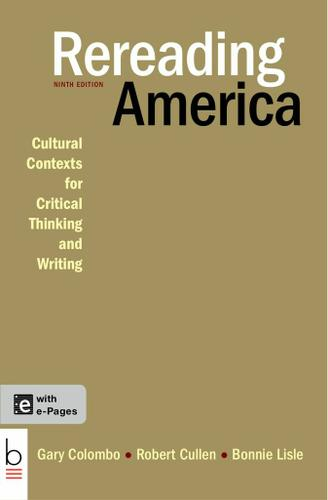 rereading america gary columbo The works cited list (mla style)  an anthology columbo, gary, robert cullen, and bonnie lisle, eds rereading america:.